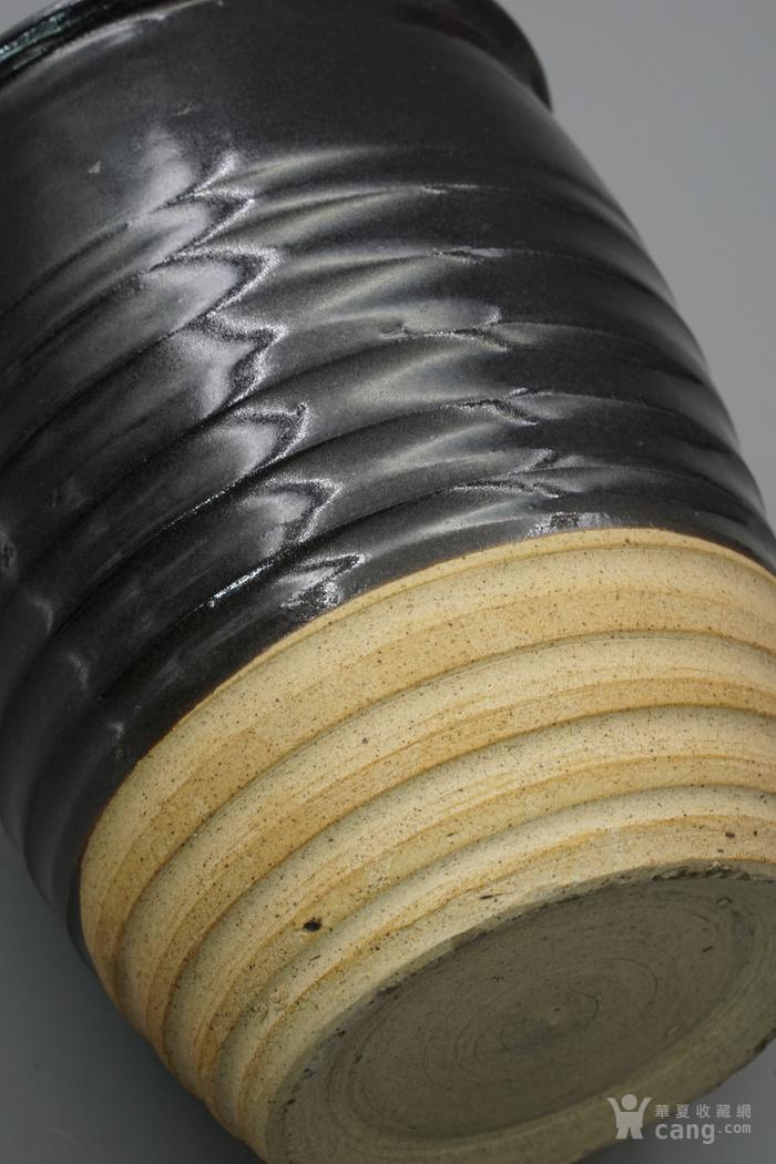 元明时期 西北地区窑场黑釉弦纹直口罐