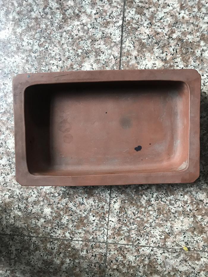 一个几十年的紫砂水仙盆