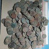 清朝龙版铜币和民国双旗铜币320枚