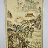 87年杨柳青印刷画,有破损。长147厘米