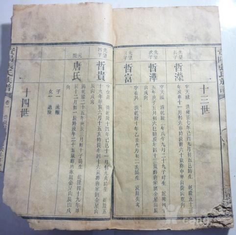 四川资阳张氏族谱第一卷图片