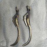清代袖珍鱼刀两个