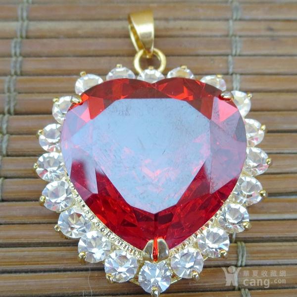 红宝石胸坠 宝石胸针图1
