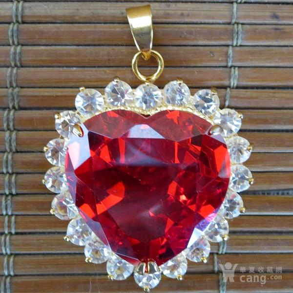 红宝石胸坠 宝石胸针图3