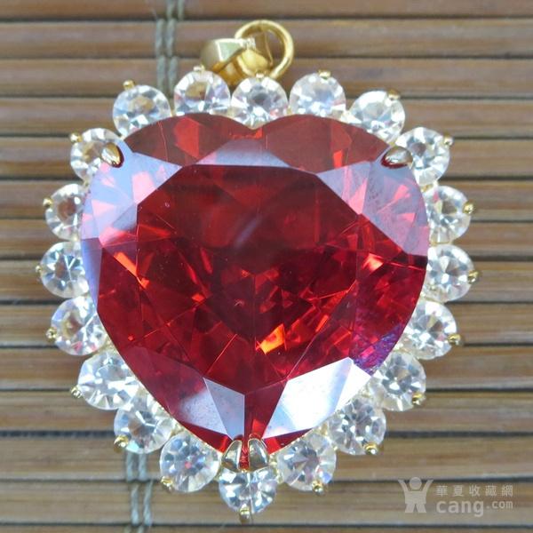红宝石胸坠 宝石胸针图7
