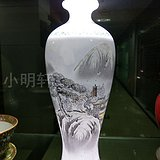 建国初 景德镇 手绘薄胎 全品相 瓶