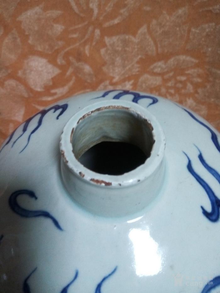 清青花龙纹梅瓶