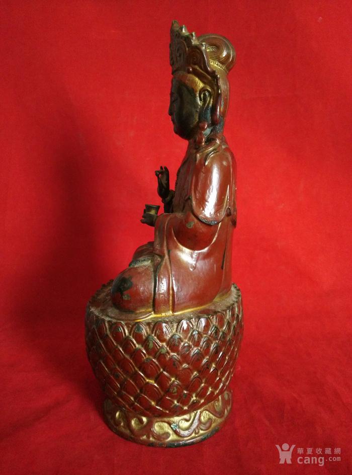 铜挂彩观音坐像图8