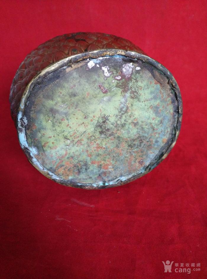 铜挂彩观音坐像图11