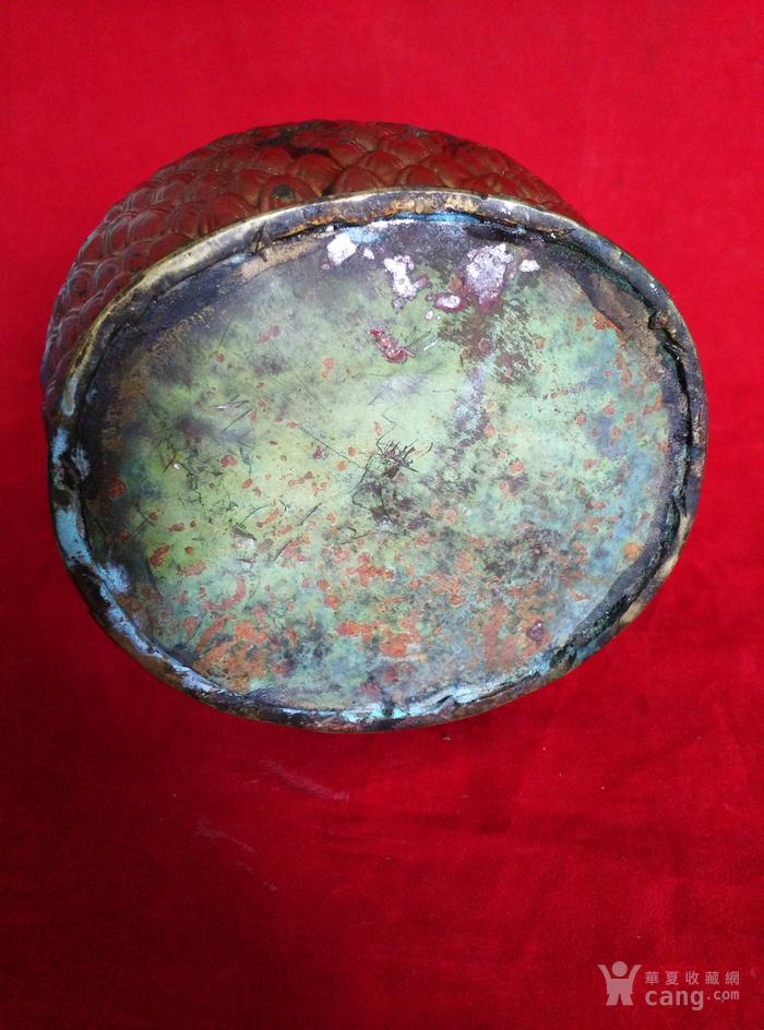 铜挂彩观音坐像图12
