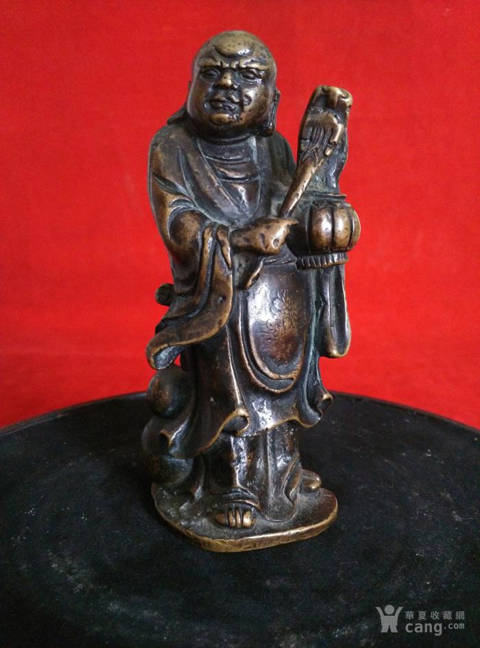 瞎和尚挑灯铜像图2