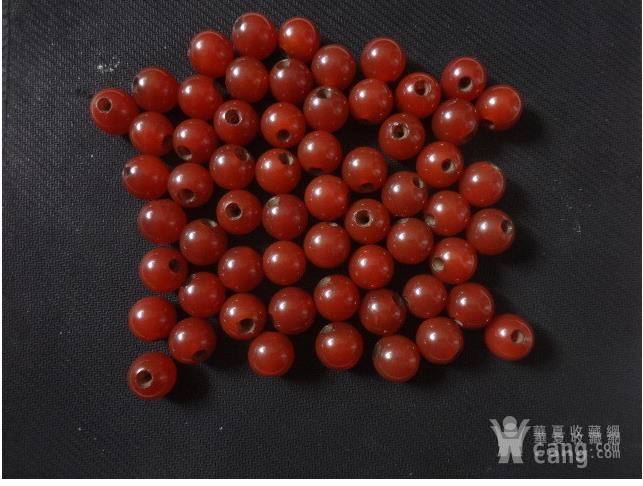 樱桃红玛瑙珠