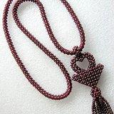 漂亮的天然石榴石串珠项链