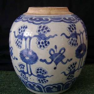 清三代:全品细路青花 杂宝纹 大罐