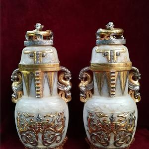 和田玉包金瓶