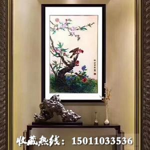 张同禄富贵春景图掐丝珐琅画