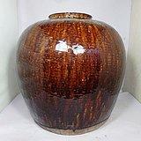 清代大号酱釉罐