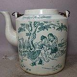 文革时期知青人物绘画提梁壶