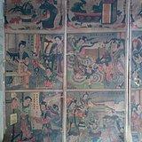 民国年画《牛郎织女》四条屏