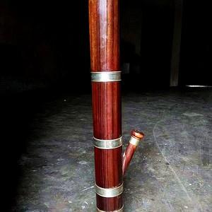 花梨木水烟筒,上水就可以用的。