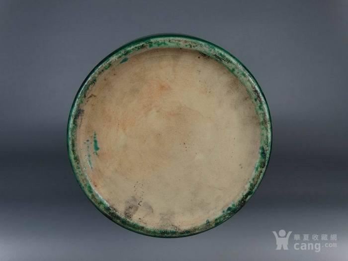 清晚期苹果绿釉大花瓶