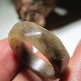 清 早期 和田玉 满糖色 八角多棱 戒指 做工甚是精美