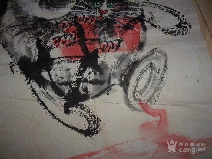 ,墨道山人画的花鸟画国画动物画猫和酒,写意画水墨画