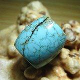 小有年头 原矿高瓷 松石 桶珠