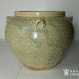 浙江越窑青瓷精品四系罐