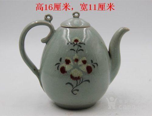 高丽青瓷辰砂壶