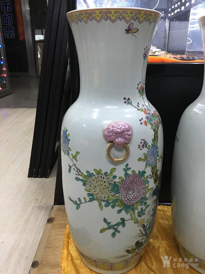 粉彩花鸟纹大瓶一对