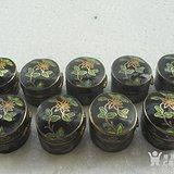 老景泰蓝掐丝珐琅小铜盒9个