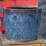 清代海狮釉画缸