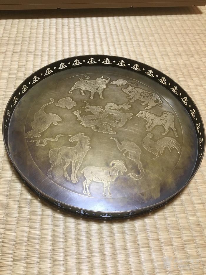 民国二年款铜浮雕赏盘图1