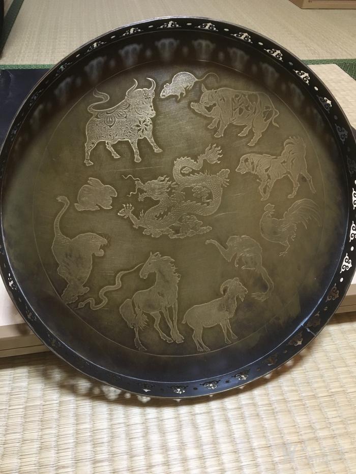 民国二年款铜浮雕赏盘图3