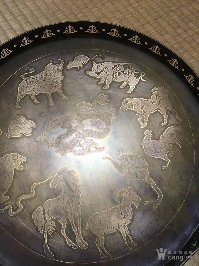 民国二年款铜浮雕赏盘图6