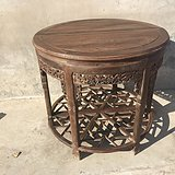 花梨木品相一流包浆浓厚满工圆对桌