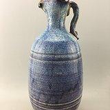 紫釉龙兽提手瓷瓶A4941