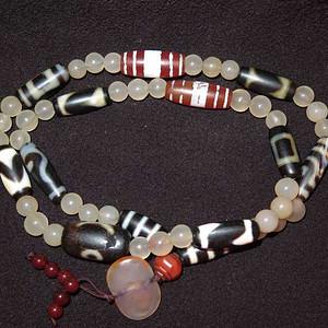 玛瑙天珠项链