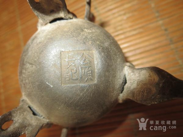 老锡器香炉双龙三足锡香炉图8