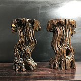 民国时期黄杨木树根造型摆件
