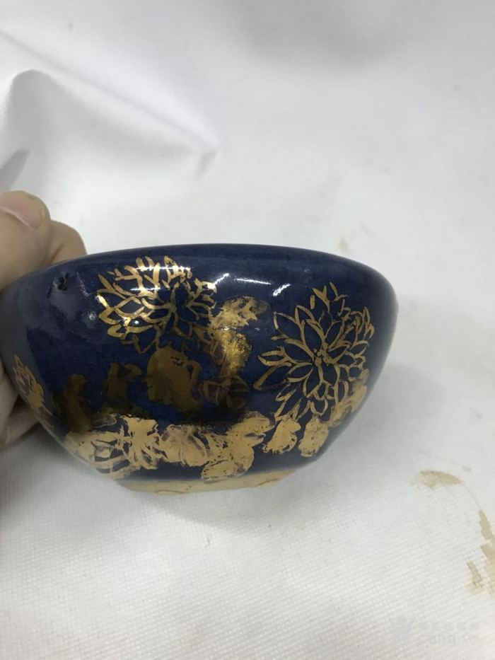 蓝釉笔洗图2