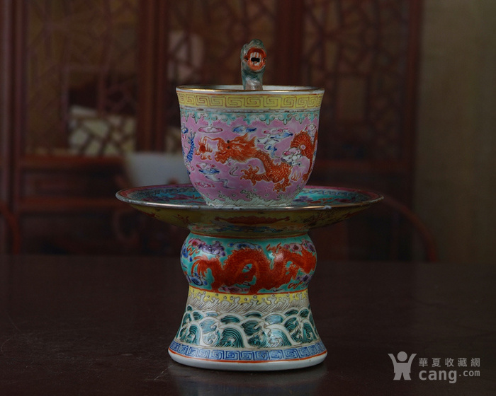 景德镇陶瓷 文革瓷器 九龙公道杯