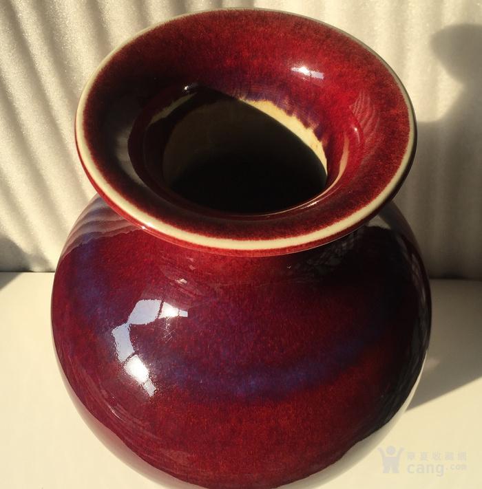 清代窑变釉瓶