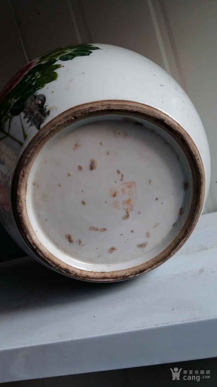 段鸿发造粉彩花鸟盖罐两个