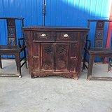 清代品相包浆浓厚浮雕工艺精湛桌椅三件套