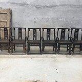 清代老榆木品相一流包浆浓厚官帽椅六件
