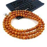 橙红108颗佛珠项链手链