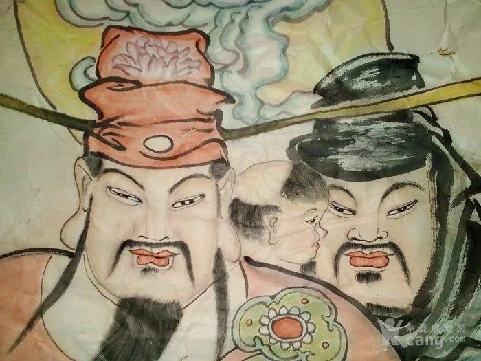 纯手绘老字画人物画神仙画国画福禄寿喜三星图,有六个人,恭喜你