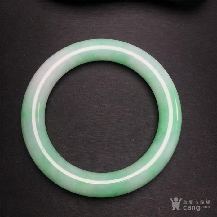 玉泉文玩W816回流老坑细糯种飘正阳绿翡翠粗管圆条手镯